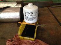 Filtre à huile: ouvert à la recherche de limaille de fer