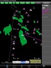 Image radar à l'arrivée: il s'agit de TCU dont la base est supérieure au FL 80