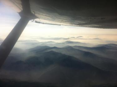Travers Pamplune, au décollage de LESO